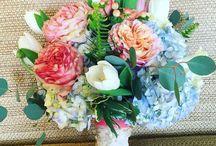 A Friends Wedding / Destination Wedding. Team Effort. #beautifulfacesbyerin. @ten23designs. Angeline Davis Designs. Flowers. Makeup&Hair. Monogram and Table Numbers