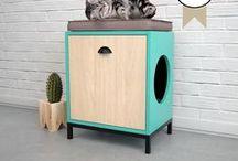 Linea FLORA, Muebles para mascotas. / Linea de muebles exclusivos para felinos.