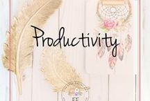 Productivity Tips for Entrepreneurs and Bloggers / This board contains productivity tips for entrepreneurs, small business owners, freelancers and bloggers. Productivity apps, planners, goal setting and how to become more organized and efficient are just some of the pins included here.