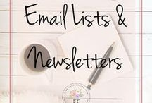 Email Lists for Bloggers & Entrepreneurs / Email list building is a crucial part of having a profitable blog. This board contains everything from opt-in freebies and email services providers to newsletters and email marketing. Learn how to grow an email list and sell your products using emails.