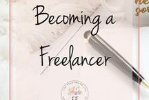 Becoming a Freelancer / This board contains everything you need to become a freelance writer and start your own freelancing business. Get that financial freedom that you've always been dreaming of by becoming a freelancer.