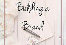 Building a Brand / How to build a brand for your blog or business. Learn how to build a unique brand that suits you and your business, as well as appeals to your target market. From logo to colour palette, this board has everything you need.