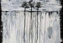 roots / original art by zhu, acryl on canvas
