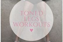 ♥ toned legs workouts / Develop sexy curves by toning and shaping your legs with these awesome workouts!