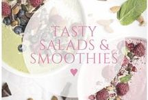 ♥ salads and smoothies / Healthy salads and smoothies to get a nutrient hit whilst keeping the calories low!