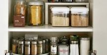 Organize: Kitchen / Organize your kitchen using these ideas to organize your refrigerator, spices, bakeware, medicines, vitamins, pots & pans, pantry, under the sink, silverware, plates, recipes and more!