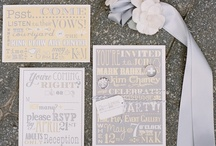 Invitations & Pretty Papers / Invitations and pretty stationery and paper goods for weddings and parties. Announce your event and thank your guests with style.