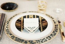 Art Deco / Art Deco weddings styles of the 1920s and 1930s with inspiration from the Art Deco Movement and inspired by The Great Gatsby.