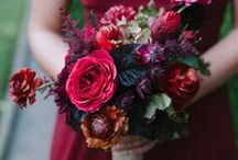 Burgundy Wedding Ideas / Burgundy, deep red, and wine-colored inspiration for weddings.