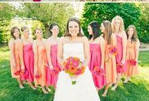 Pink & Orange Wedding Ideas / Pink and orange wedding ideas and colors.