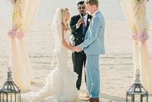 Beach Wedding / Beach wedding inspiration for  destination weddings or seaside nuptials.