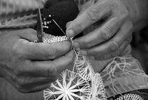 ●Manufactures● / le travail manuel, le fait main, l'empreinte de la main sur le textile...authentique et nostalgique.