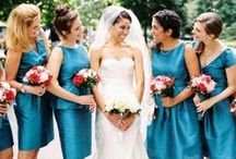 Blue Bridesmaid Dresses / A collection of blue bridesmaid dresses for inspiration and to help you find your dream bridesmaid dress style!