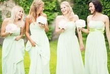 Mint Bridesmaid Dresses / Mint is such a popular color for weddings! Either you call it ice blue, pale green, pistachio or mint, I've collected these mint bridesmaid dresses for you to inspire your bridesmaids' attire. #mint #weddings / by Dress for the Wedding