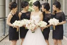 Black Bridesmaid Dresses / A collection of bridesmaids dresses in black. The little black dress will never go out of style - the perfect choice for your wedding!