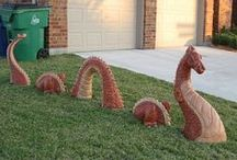 Concrete Lawn Ornaments Vintage and New / . / by Karla Mitchell