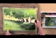 watercolor tuts / watercolor tutorials that I hope will help me / by Susan Kamps