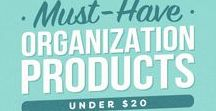 Organize: Products / Products help you get organized. Whether you DIY them, have them in your home already or need to purchase some, use organizing products to help you get organized.