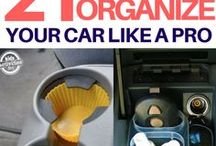 Organize: Car / Organize your car, emergency supplies, kid's travel games, first aid supplies and more. Feel great as you travel around town!