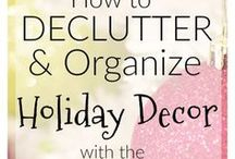 Organize: Holiday / Organize: Holiday board includes ways to get organized for the holidays from holiday printables to storage ideas for decorations and wrapping paper.