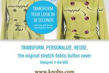 Button Wrapz - Patented Removable Stretch Fabric Button Covers