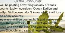 Royal RP / I will be posting new things on any of my Eadlyn accounts and you can be a pirincesse or prince! STORY LINE: Queen eadlyn and maxon has invited other royals to there castal because people are trying to kill all of the royals so they can take over the word!!