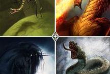 Animales arcanos / En Imperia cada uno de los cuatro sectores tiene un animal emblemático al que honrar.  #sagaimperia #fantasy