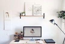 Home Office / Lass dich hier inspirieren dein Home Office so effizient und gemütlich wie möglich zu gestalten.