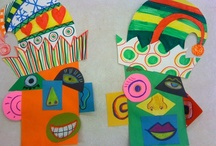 Likin' 5th grade art  / art projects for my 5vr's / by Deb Steffeck