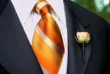 Orange Wedding Inspiration / Not just for fall, orange adds an unexpected pop of color perfect for any time of year!