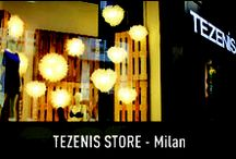 """Tezenis Store - Milan / Sexy, young and eye-catching ... Slamp and Tezenis! Two successful brands for the Fuorisalone 2012 join their union resulting in a fascinating scenario that combines fashion, design and lifestyle all in one. An """"intimate"""" and seductive atmosphere created by the collection of Slamp's Veli's and the seen and not seen by the creations of Tezenis."""
