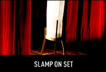 Slamp on Set / We've taken our products to the theatre and put them through their paces. In these rehearsals each one of them treads the boards, and is learning to play its part in the making of a seductive series of imaginary rooms.