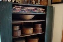 Early Pantry boxes, Firkins, Wood Buckets, Measures, Barrels, Hornbeams / by Tyne Armor