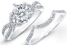 L'Amour Collection  / Complementary pairs of exquisite diamond engagement rings and wedding bands.