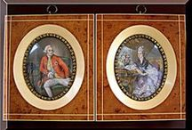 Get Me Framed / Hand painted Portraits on Pre Ban Ivory Antique