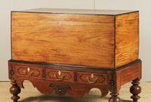 Colonial British, Dutch and Portugese  furniture from India / Colonial furniture was originally produced from indigenous woods such as Satinwood, Ebony and Rosewood by native craftsman interpreting European styles. / by Barry knott