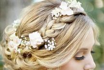 Hair Inspiration / Finding the perfect wedding day look takes time and plenty of bobbi-pins! Start with inspiration here!
