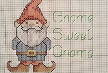 Cross Stitch: Gnomes