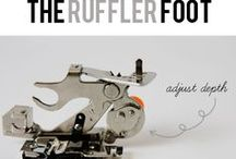 Sewing: Ruffler Foot / sewing..using a machine Ruffler attachment.