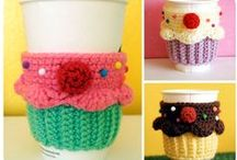 Crochet: Cup/Mug Wraps / Things that go around your coffee cup or mug.