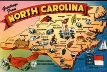 North Carolina / These are just pins that remind me of this state..You see something & think....North Carolina!