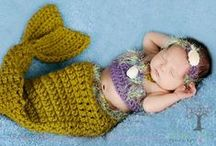 Crochet: Mermaid Babies / Baby Mermaid Items....CROWNS, COCOONS, BRA-LETS(tops).   Patterns, Pictures, Ideas, $$, Free.