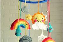 Crochet: Clouds, Sun, Raindrops, Rainbows, Moon