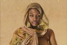Black Art / Artwork by African and the African diaspora. Artwork painted in the image of blackness.