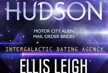 book: Hudson / Inspiration board for the second book in the Motor City Alien Mail Order Brides series