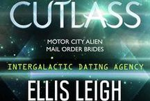 book: Cutlass / Inspiration board for the first book in the Motor City Alien Mail Order Brides series