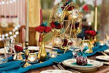 Wedding Carnivale Theme / Do you love carnivals & fairs? Do you love the circus? Why not pull the bright lively colors and theme into your Milwaukee wedding day, bridal shower or engagement party?