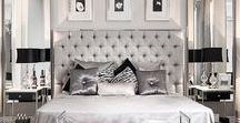 Glamour interior / Styl glamour / Style glamor for many years been one of the most important trends in interior design. His constant elements are decorative and stylized, glittering accessories.