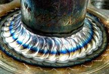 Welds in General / Various images of colourful, tig, mig, stick, weave and beaded welds.