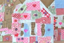 fabric.art / art for littles using FABRIC